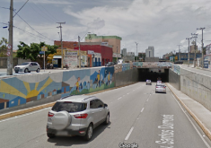 Carros em túnel em referência a Obras do binário da Av. Santos Dumont tem previsão de início em setembro