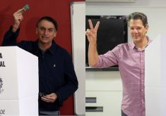 Bolsonaro e Haddad disputam o segundo turno. (Foto: Reuters/Ricardo Moraes/ Direitos Reservados/Agência Brasil e Ricardo Stuckert)