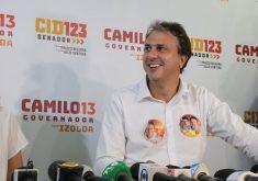 Camilo Santana (PT) durante Comitê