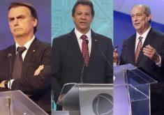 O contraste entre os candidatos (Foto: Kelly Fuzaro/Band - Cláudio Kbene - Kelly Fuzaro/Band)