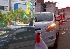 Carreatas pró-Bolsonaro e pró-Haddad terão concentração a partir das 15h. (Fotos: Tribuna do Ceará e Reprodução)