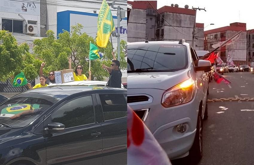 Fortaleza terá carreatas de eleitores de Bolsonaro e Haddad na véspera da eleição