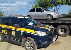 O carro do homem também foi apreendido (FOTO: Divulgação/PRF)