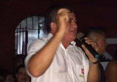 Guimarães discursou após a apuração dos votos (FOTO: Lyvia Rocha/Tribuna do Ceará)