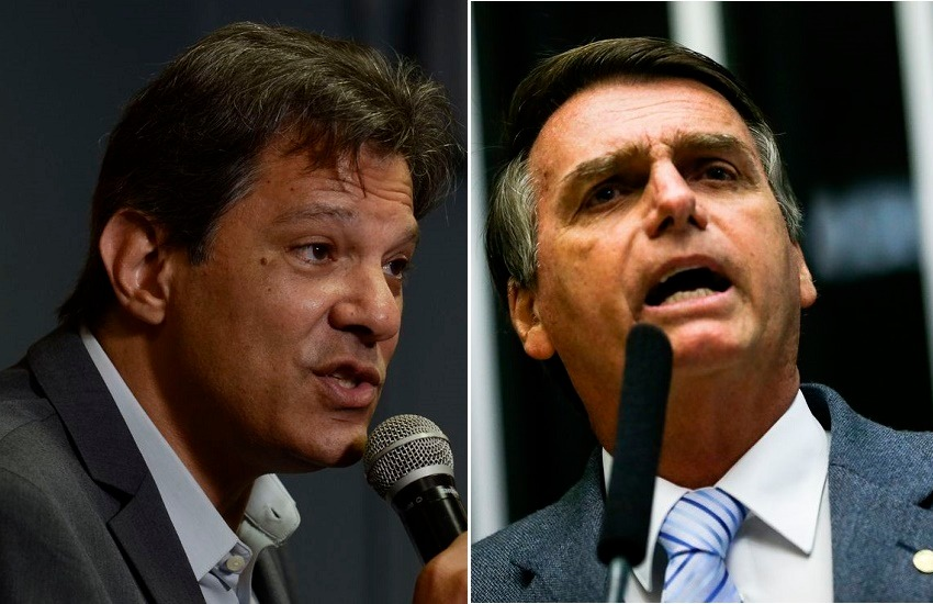 Ibope: Bolsonaro lidera com 59% dos votos válidos, Haddad aparece com 41%