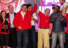 Em 2016, Ciro participou da convenção do PT que lançou Haddad à reeleição em SP. (Foto: Paulo Pinto/ AGPT)