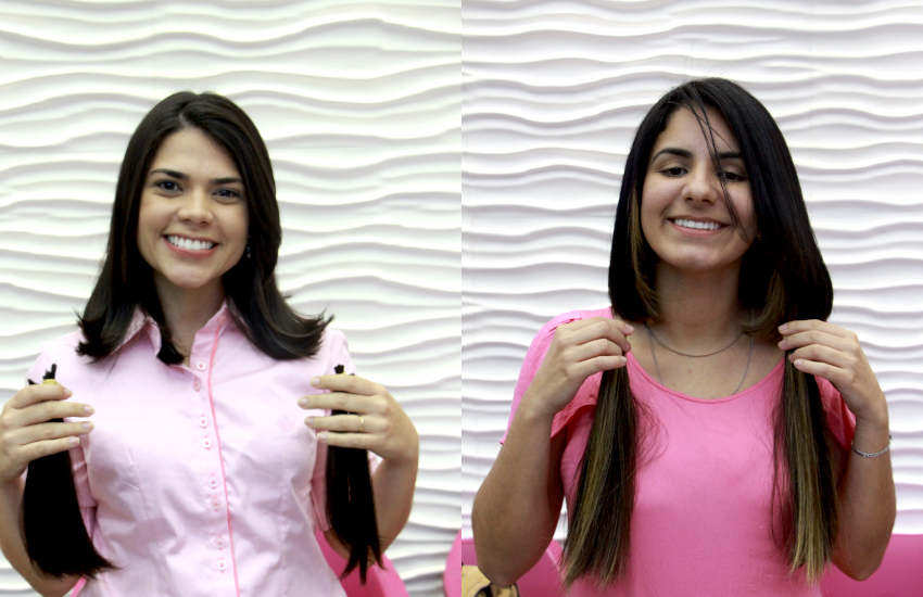 Repórteres cortam cabelo para doar a mulheres em tratamento do câncer