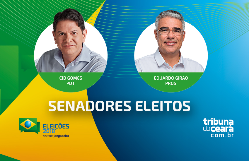 Cid Gomes e Eduardo Girão eleitos para o Senado; Eunício derrotado por novo candidato