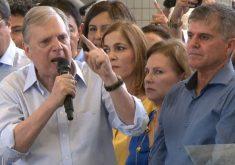 Tasso elogiou a campanha do candidato General Theophilo (FOTO: Reprodução/TV Jangadeiro)