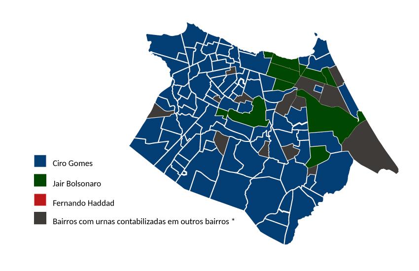 Bolsonaro foi o mais votado em 6 dos bairros mais ricos de Fortaleza; Já Haddad não venceu em nenhum
