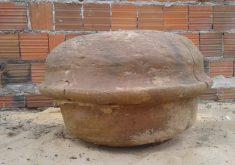 No interior da urna funerária indígena foram encontrados restos mortais (FOTO: Arquivo pessoal)