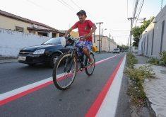 Av. Aguanambi e rua Barão do Rio Branco serão interligadas por ciclofaixas (FOTO: Prefeitura de Fortaleza/Divulgação)