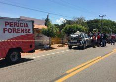 O assassinato aconteceu na cidade de Pecém (FOTO: Abraão Ramos/TV Jangadeiro)