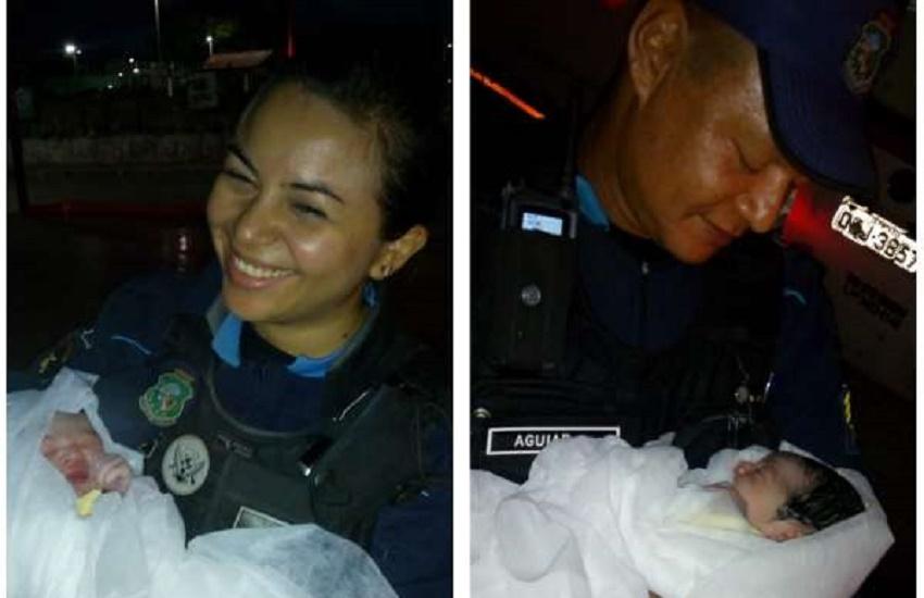 Policiais militares realizam parto de bebê dentro de viatura em Fortaleza