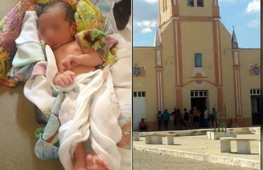 Recém-nascido é deixado na porta de igreja, mas mãe se arrepende e volta um dia depois