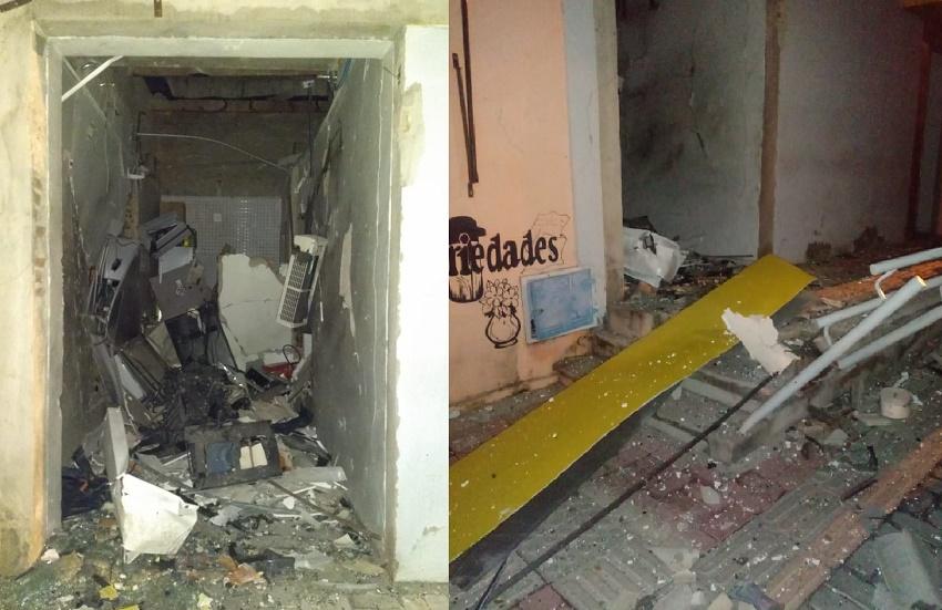Quadrilha armada explode agência do Banco do Brasil no município de Cariré