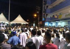 Missa foi realizada no Centro de Milagres (FOTO: Reprodução WhatsApp)