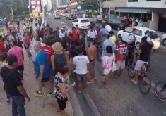 Youtuber fingiu estar morto, na Avenida Beira-Mar (FOTO: Reprodução/ Youtube)