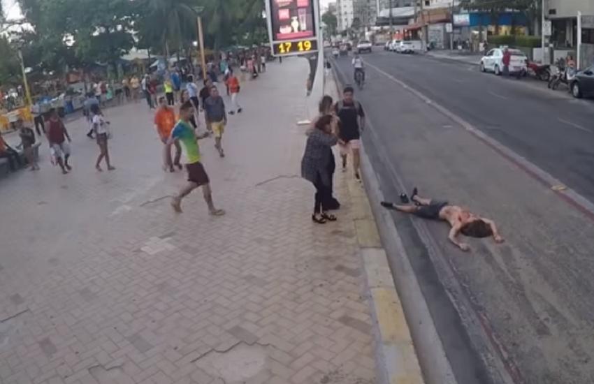 """Polícia investiga youtuber que fez """"pegadinha"""" simulando morte violenta na Beira-Mar"""