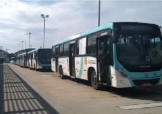 As atividades nos terminais foram paralisadas devido a retirada de cobradores de algumas linhas (FOTO: TV Jangadeiro)