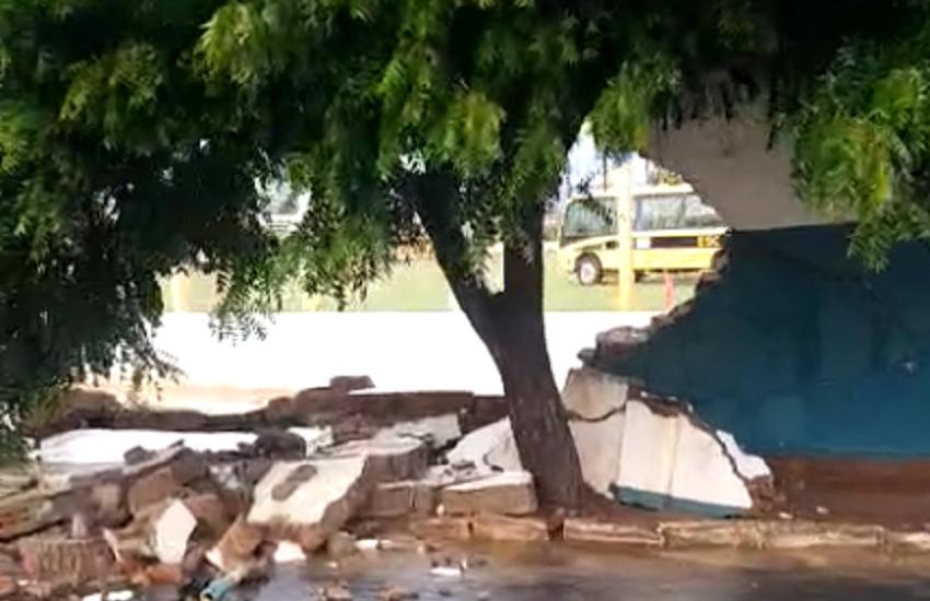 Aratuba registra chuva de granizo; Em Capistrano, caiu o muro do estádio municipal