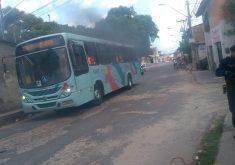 Ônibus foram incendiados em Fortaleza (FOTO: Reprodução WhatsApp)