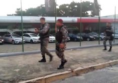Policiais da Força Nacional estiveram no local (FOTO: Divulgação WhatsApp)