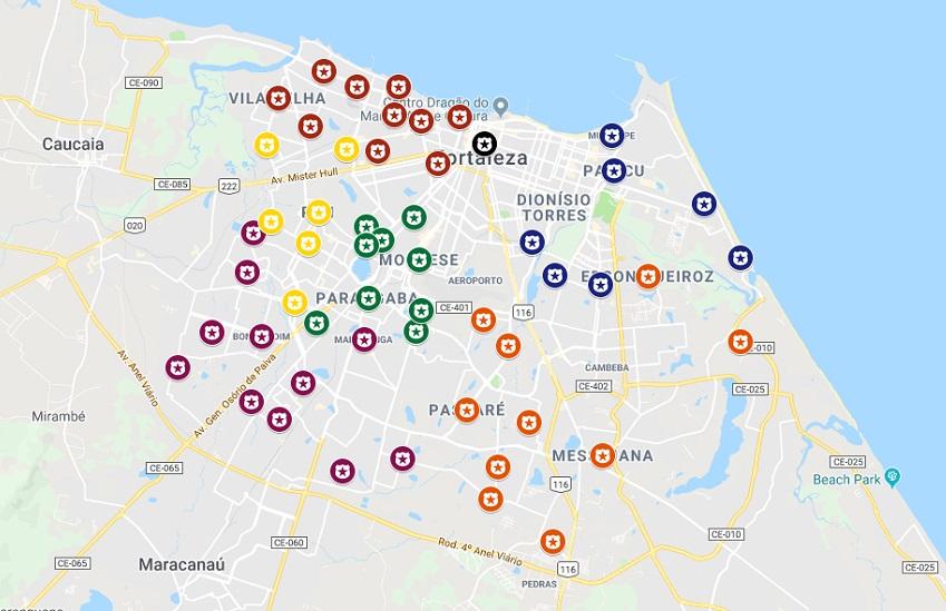 Quase a metade dos 119 bairros de Fortaleza já sofreram ataques na onda de terror