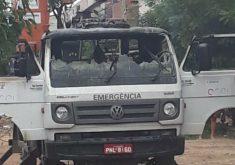 O ataque aconteceu no início dessa tarde de domingo (FOTO: Reprodução/Whatsapp)
