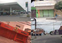Várias lojas fecharam as portas em Fortaleza e interior do Ceará (FOTO: Dorian Girão/ Reprodução/ Whatsapp)