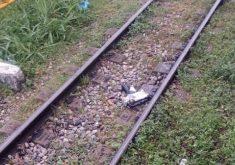 Suposto explosivo foi colocado nos trilhos da Linha Oeste. (Foto: Reprodução)