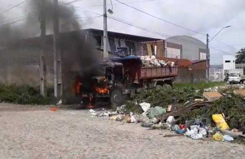 Caminhão é incendiado a 700 metros de onde a Força Nacional está instalada