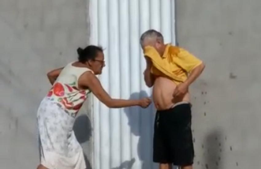 Idosa tenta atear fogo em ex-marido durante discussão