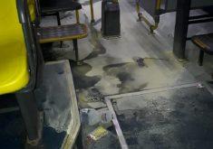 ônibus queimado no Edson Queiroz