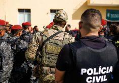 Forças de segurança trabalham em parceria para conter onda de violência no Ceará. (Foto: Divulgação/SSPDS)