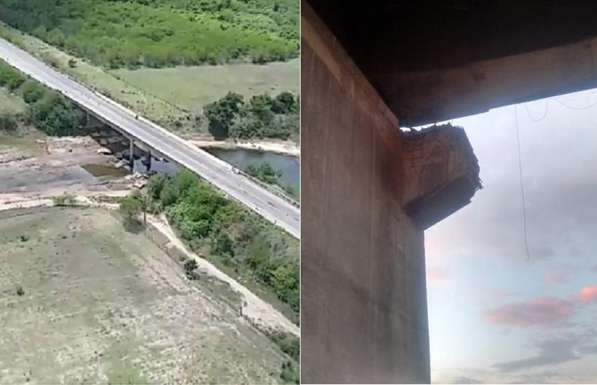 Duas pontes são alvos de criminosos no Ceará em menos de 24h; uma delas está parcialmente interditada