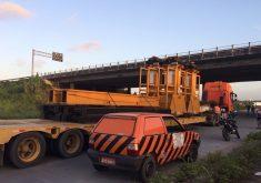 O viaduto fica entre a BR – 020 e BR -222. (FOTO: Reprodução/ Whatsapp)