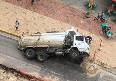 O incidente aconteceu na tarde desta segunda-feira (FOTO: Reprodução/ Whatsapp)