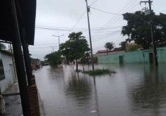 A chuva em Fortaleza foi de 120 milímetros (FOTO: Reprodução/Whatsapp)