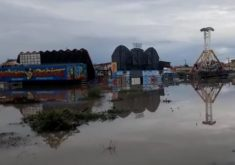 Foto: A cidade de Tabuleiro do Norte registrou o segundo maior acúmulo de chuva nas últimas 24 horas (Foto: Reprodução/WhatsApp)