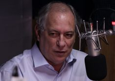 Ciro Gomes foi entrevistado na Tribuna BandNews FM. (Foto: Thales Dídimo/Tribuna do Ceará)
