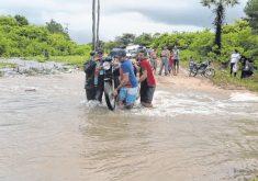 As chuvas desta semana elevaram o volume dos rios da região (FOTO: Netcina)
