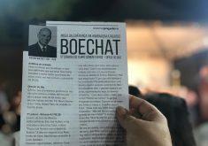 A missa reuniu diversas pessoas para homenagear Boechat (FOTO: Roberta Tavares/ Tribuna do Ceará)
