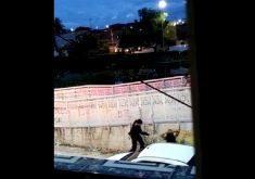 O caso aconteceu no bairro Lagamar (FOTO: Reprodução/ Whatsapp)