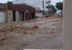 Em Tianguá, choveu 77 milímetros na última quarta-feira (FOTO: Reprodução/ Whatsapp)