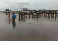 Aumento dos volumes de água nos rios requer cuidados nas estradas de acesso a Jeri. (Foto: Reprodução)