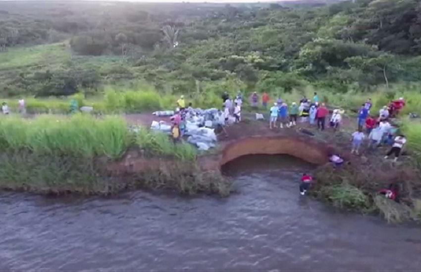 Barragem em Ubajara recebe barreiras de contenção para evitar rompimento