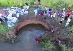Barragem corre risco de desabar (FOTO: Reprodução/TV Jangadeiro)