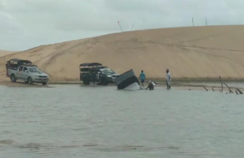 Chuvas em Jericoacoara dificultam acesso ao destino turístico durante o Carnaval