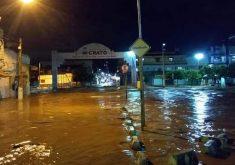 A destruição foi enorme na região do Mercado Público do Crato (FOTO: Reprodução Whatsapp)